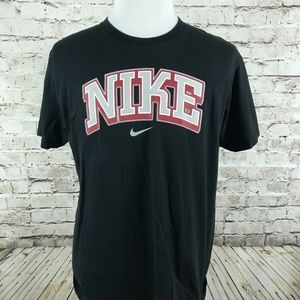 Men's Nike T-Shirt Size Large Black Spell Out
